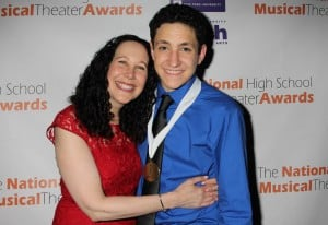 2014 Jimmy Awards Best Male Performance Winner Jonah Rawitz with his mother, Lauren Photo Credit: Henry McGee